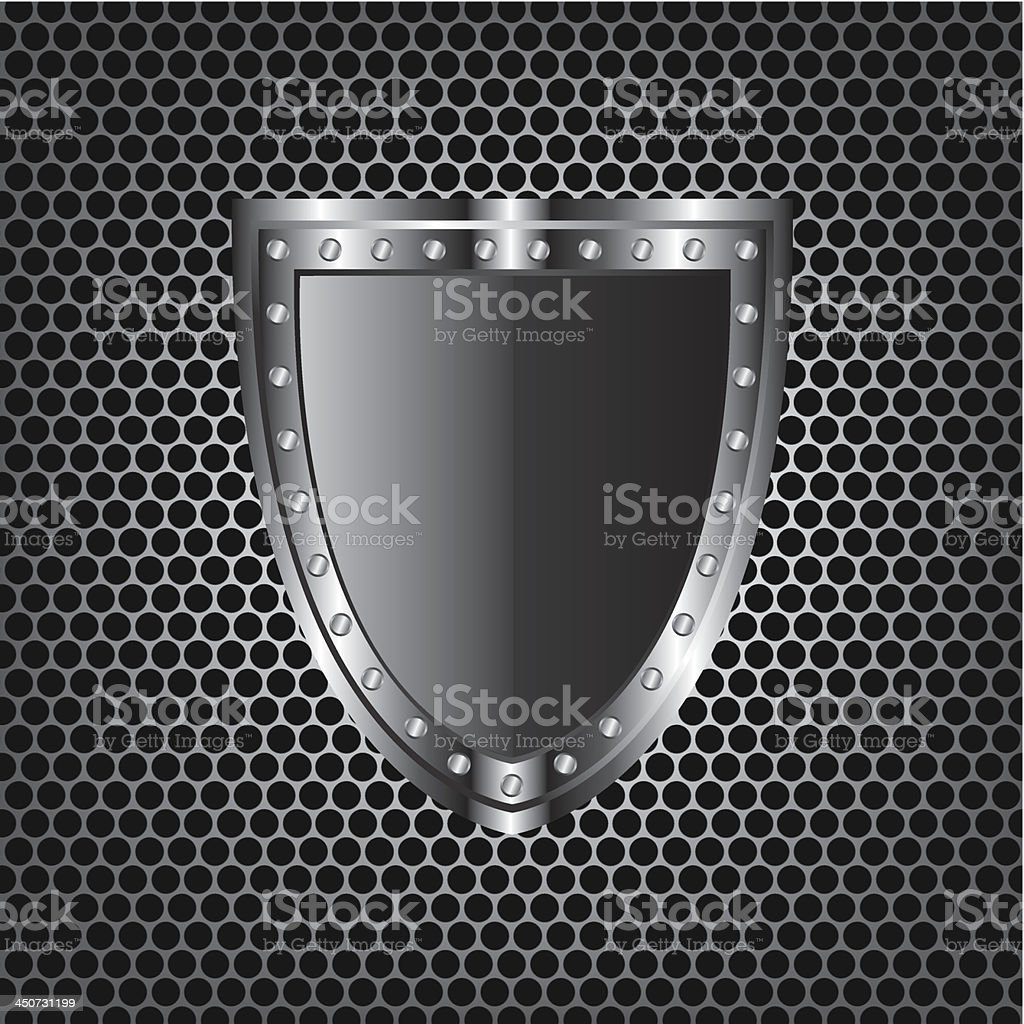 Metal textures and shield royalty-free stock vector art
