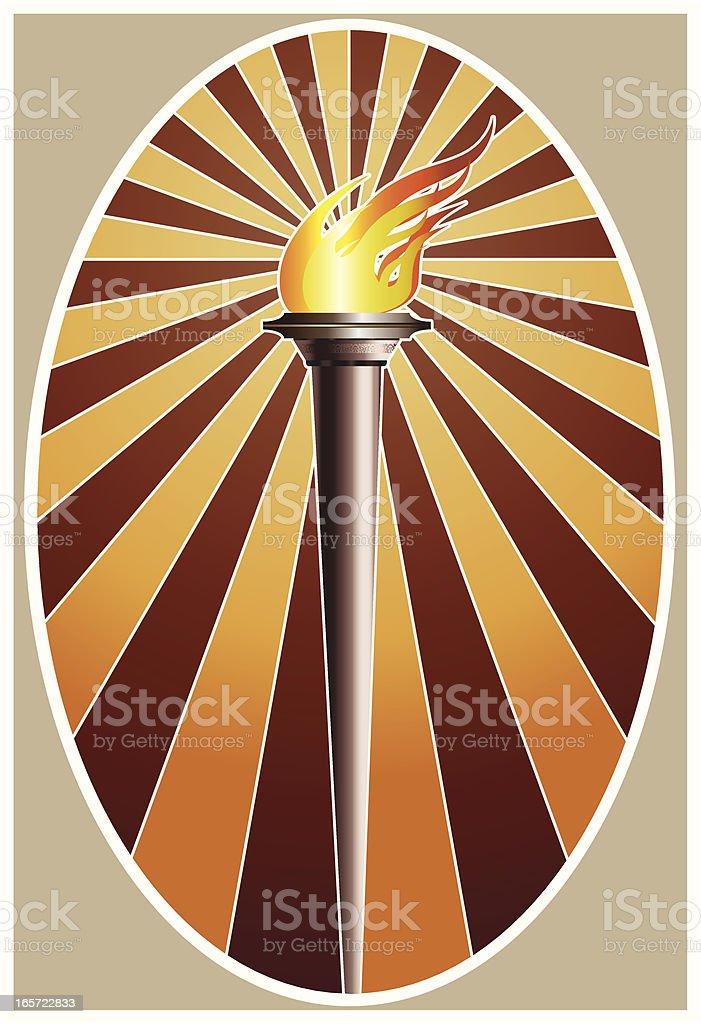 Metal Torch royalty-free stock vector art