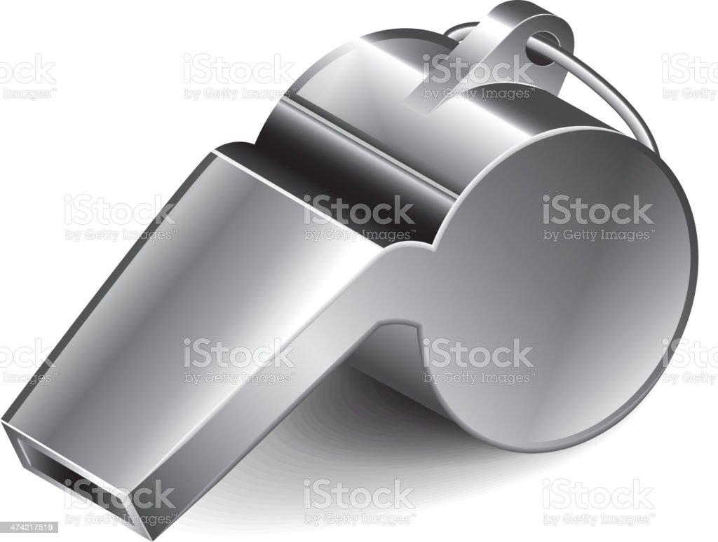 Metal whistle vector illustration vector art illustration
