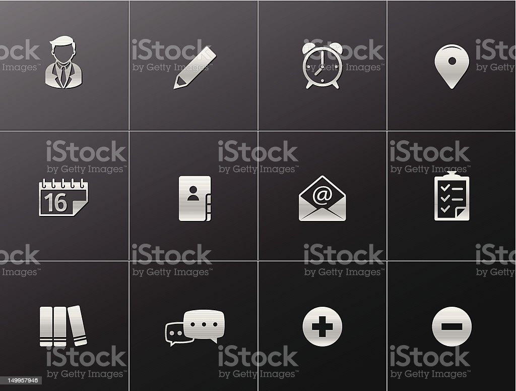 Metalic Icons - Group Collaboration royalty-free stock vector art