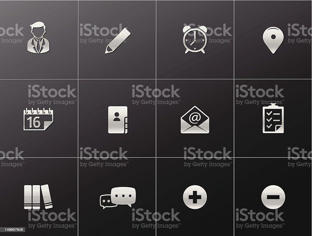 Metalic Icons - Group Collaboration vector art illustration