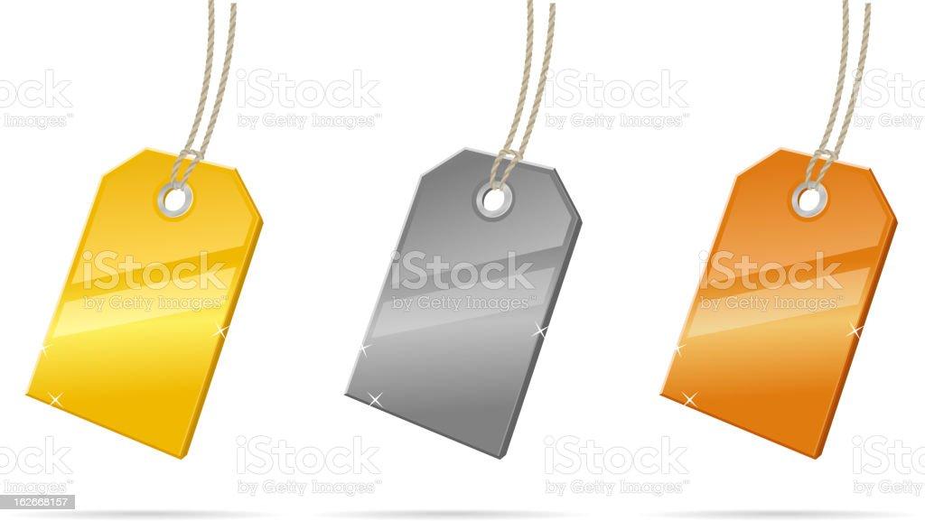 Metalic Price Tags royalty-free stock vector art