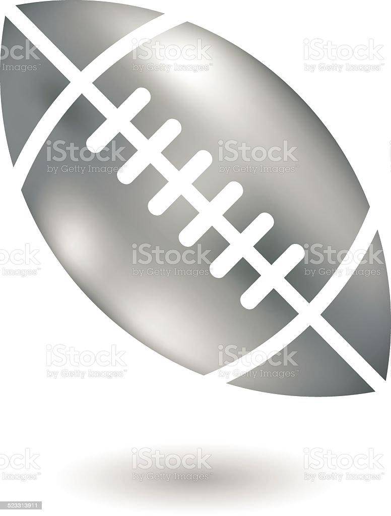 Metallic Joueur de Football américain stock vecteur libres de droits libre de droits