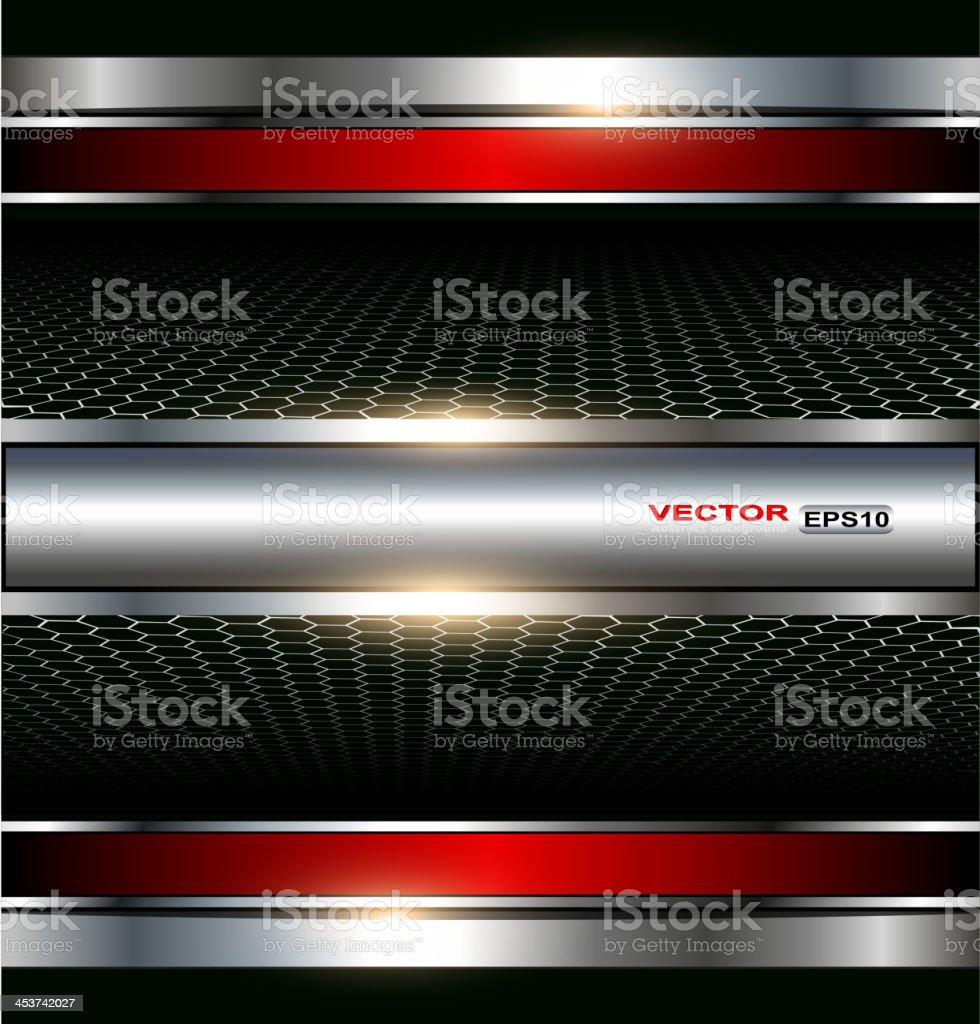 Metallic background with light shining on it vector art illustration