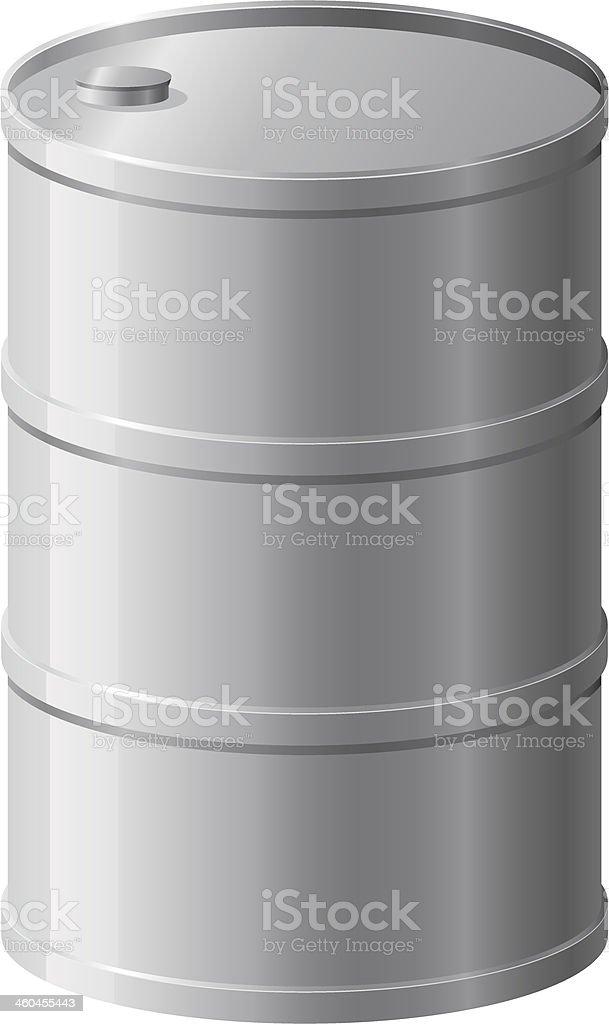 metallic barrel vector illustration vector art illustration
