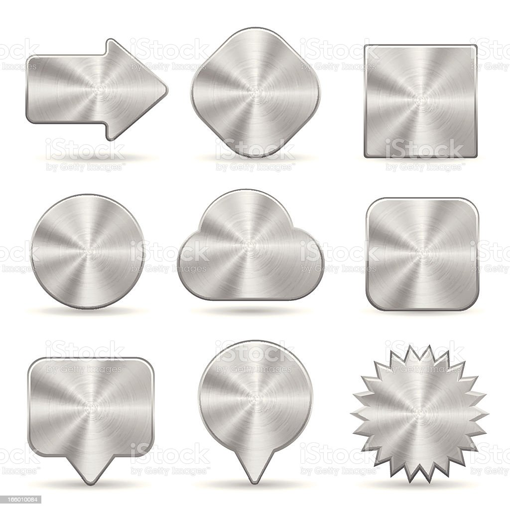 Metallic buttons royalty-free stock vector art