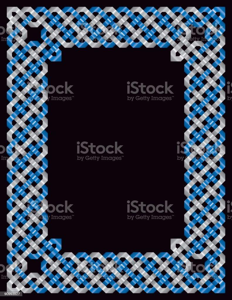 Metallic Celtic Knotwork Border royalty-free stock vector art