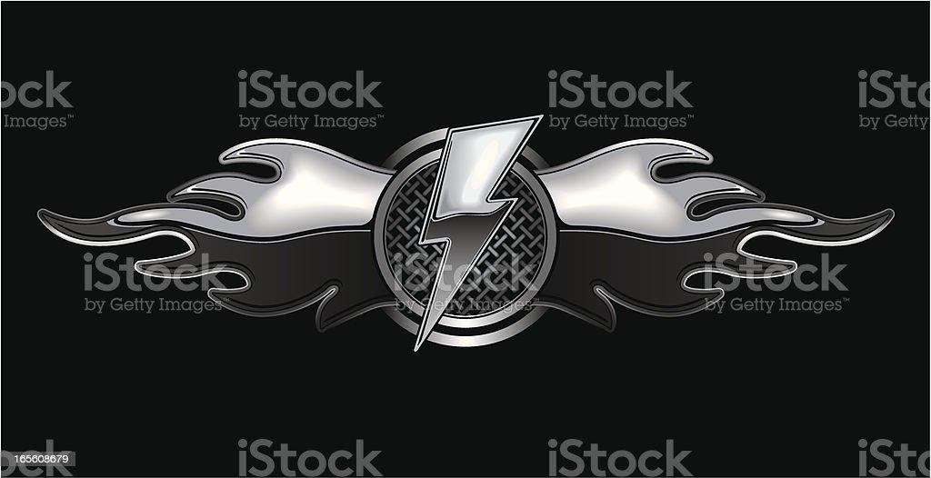 metallic flying emblem royalty-free stock vector art