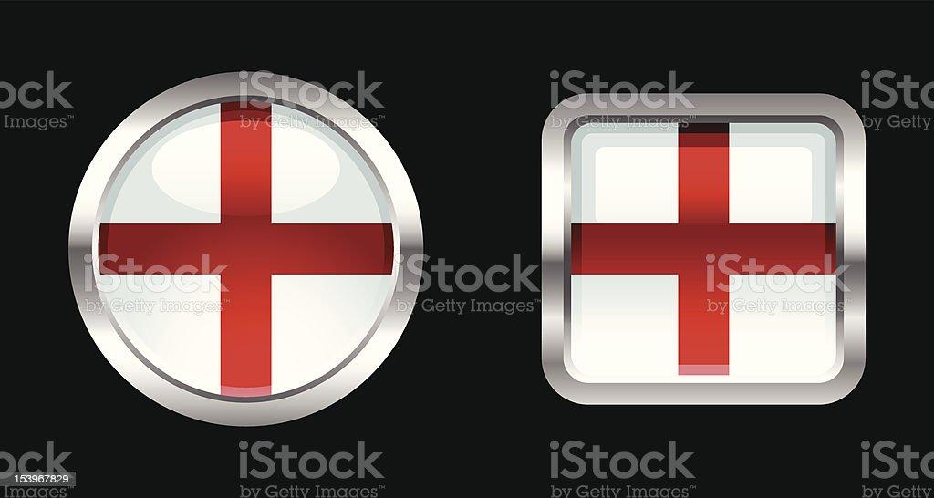 Metallic Glossy Flag   England royalty-free stock vector art