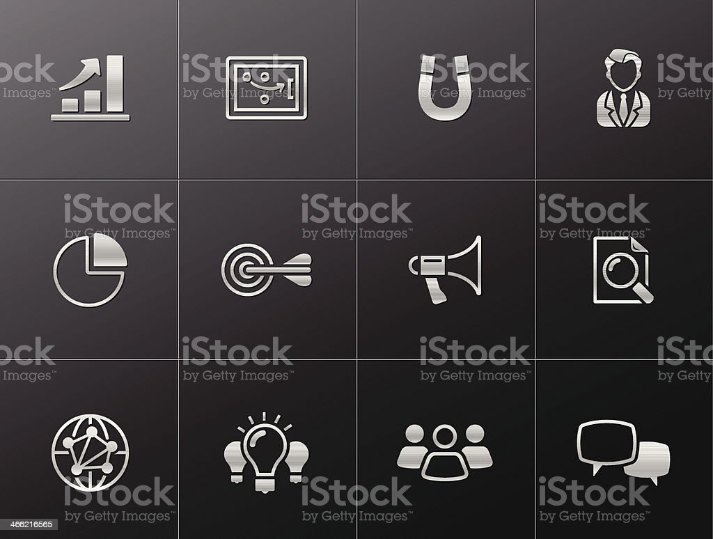 Metallic Icons - Marketing royalty-free stock vector art