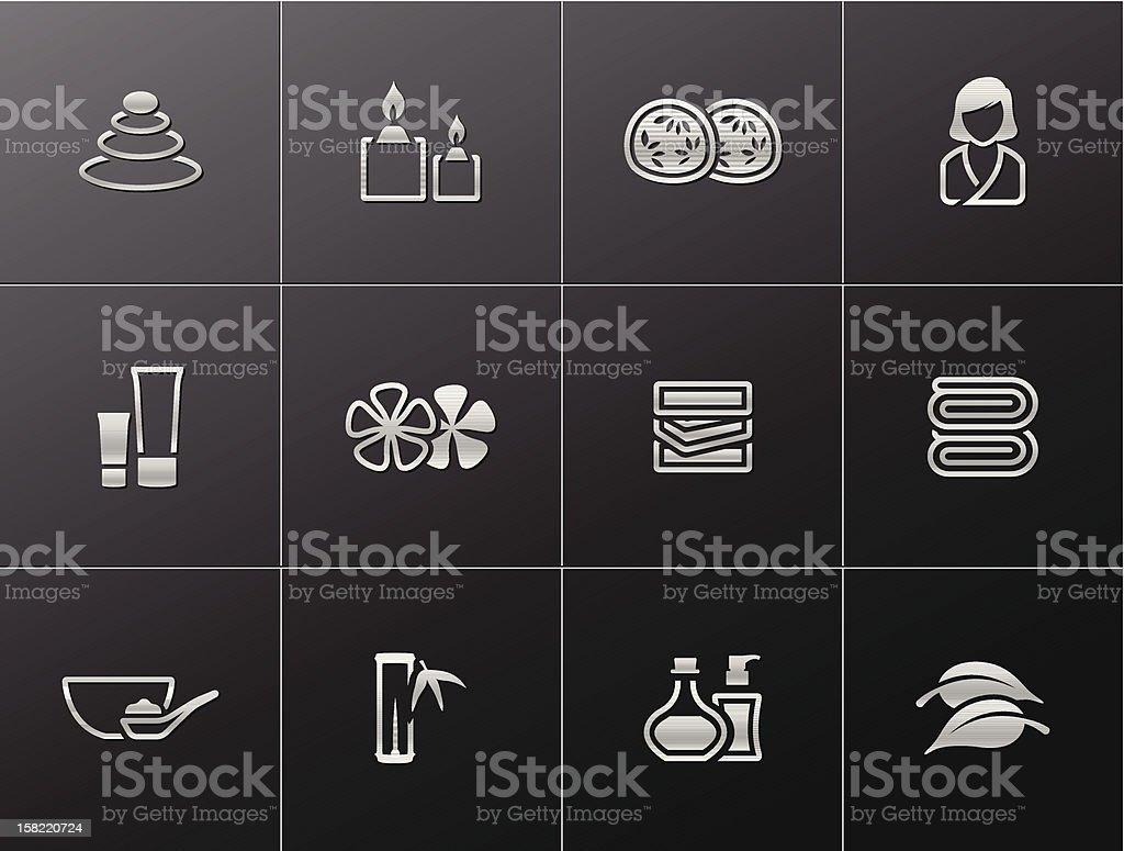 Metallic Icons - Spa royalty-free stock vector art