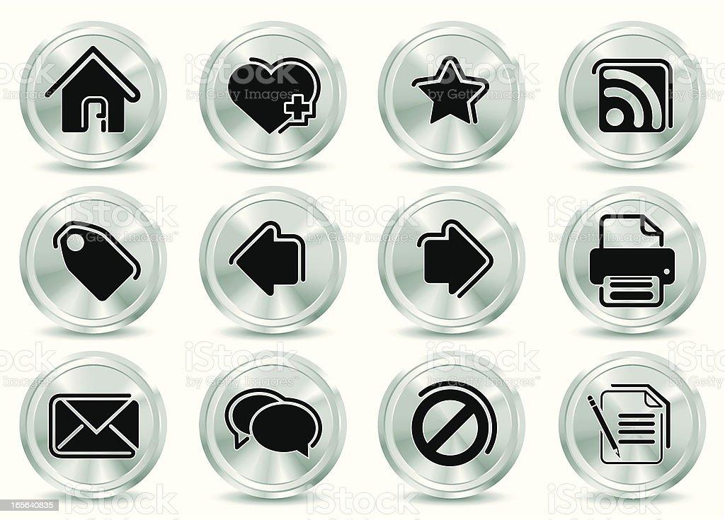 Metallic  Icons royalty-free stock vector art