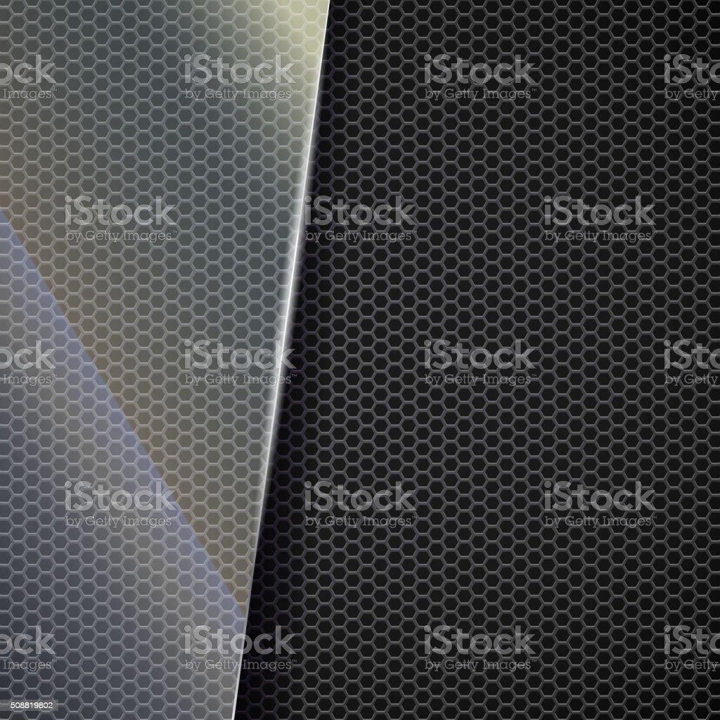 Metallic mesh background vector art illustration