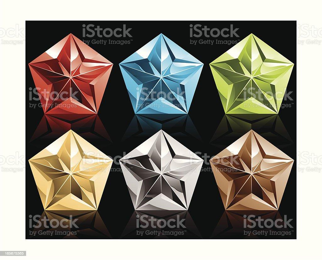 metallic pentagon royalty-free stock vector art