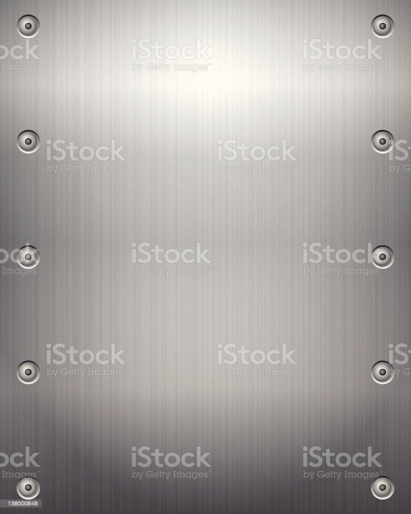 Metallic plate background vector art illustration