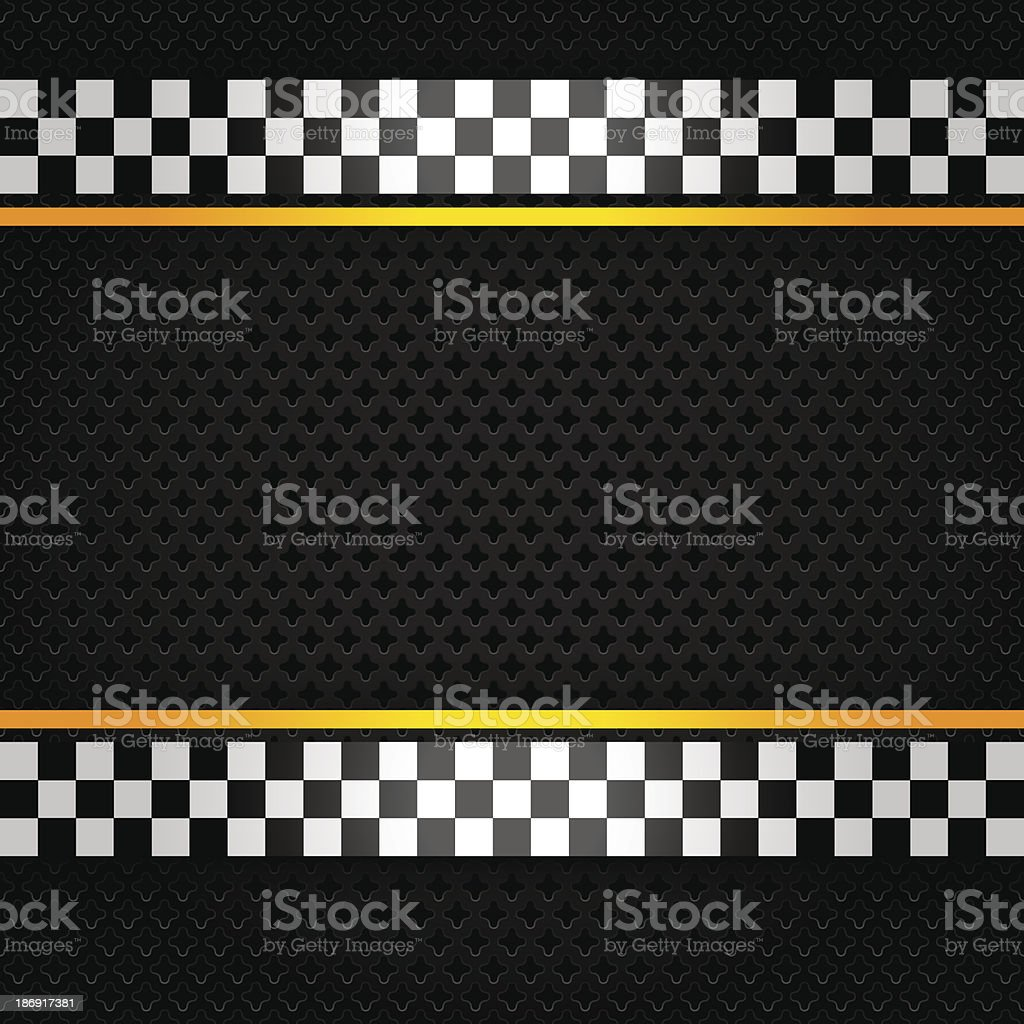 Metallic sheet with checkerboard pattern on the edges vector art illustration