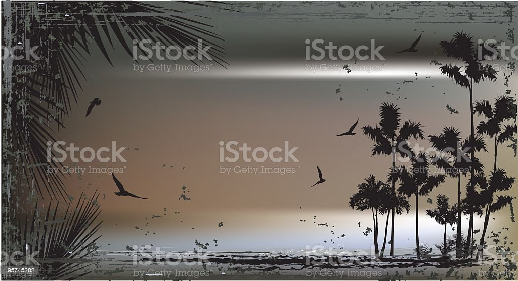 Metallic Surfing Scene royalty-free stock vector art