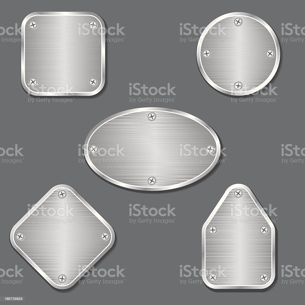 Metallic Tags with Screws royalty-free stock vector art