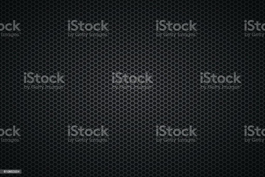 Metallic Texture - Metal Grid on wide Background vector art illustration
