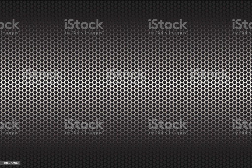 Metallic texture on wide Background vector art illustration