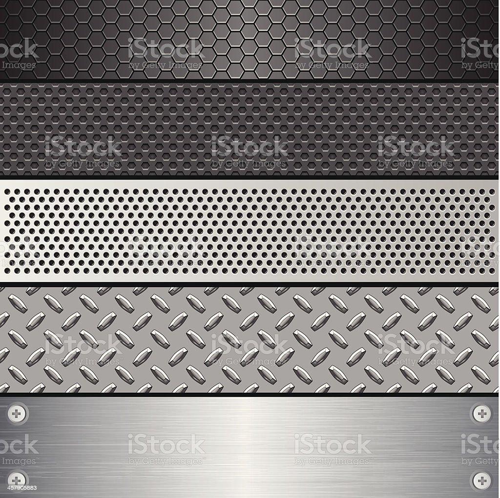 Metallic Texture Set (Pattern) vector art illustration
