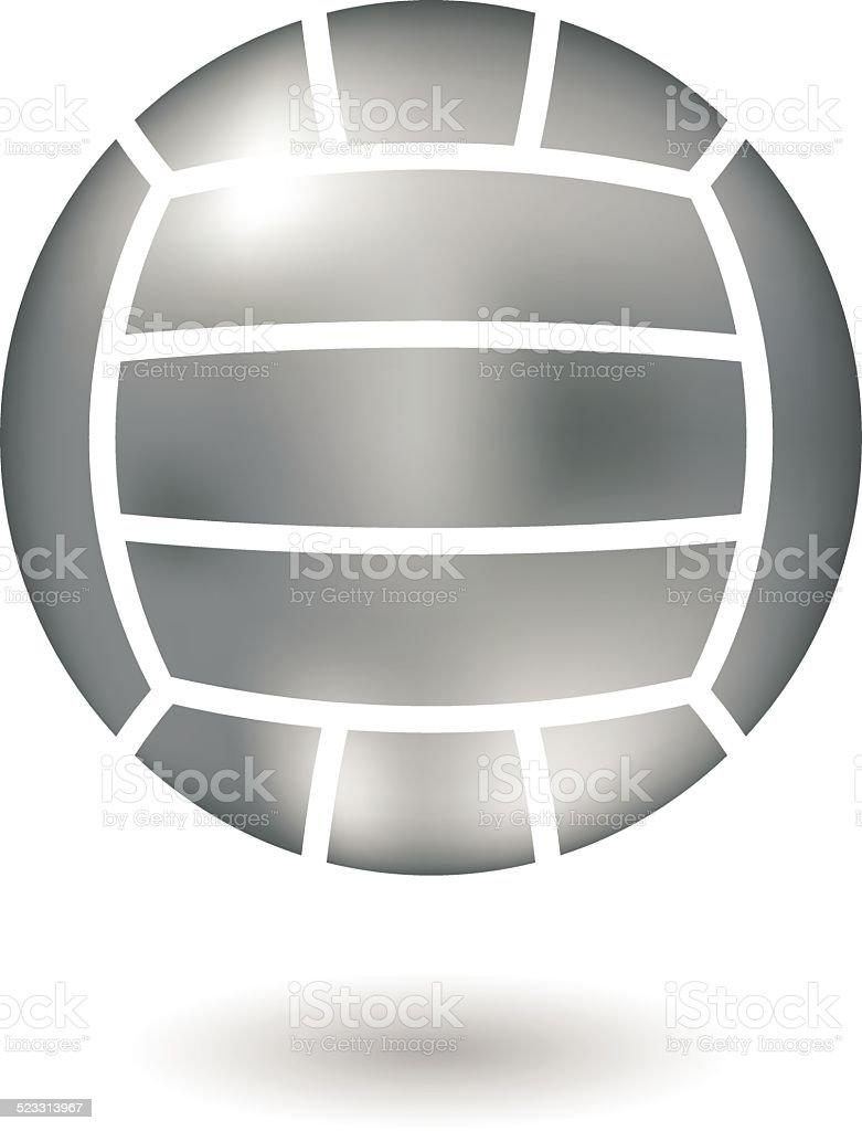 Metallic de volley-ball stock vecteur libres de droits libre de droits