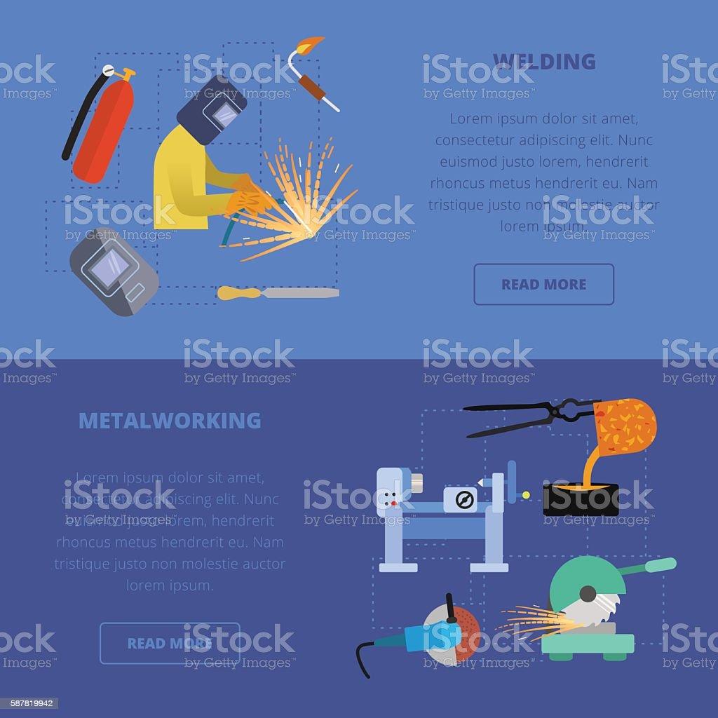 Metaworking concept. vector art illustration