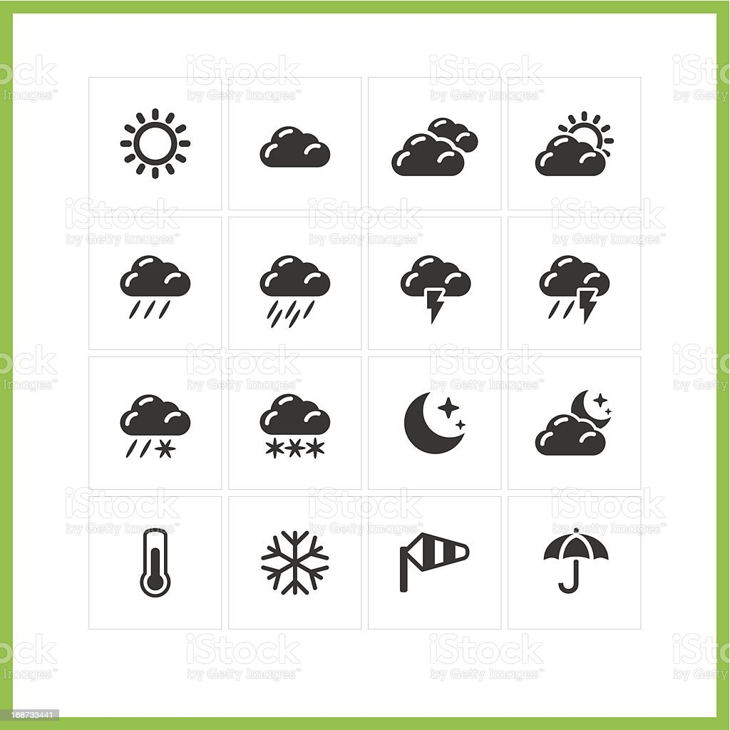 Meteo icon set. royalty-free stock vector art