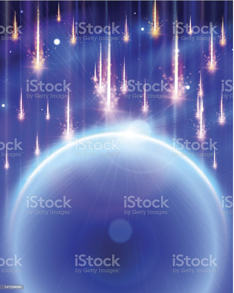 Meteor Storm royalty-free stock photo