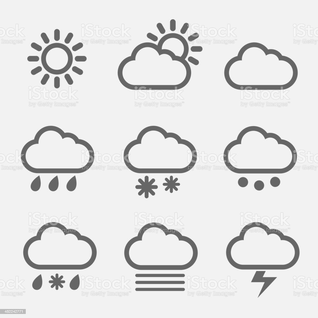 Meteorology icons vector art illustration