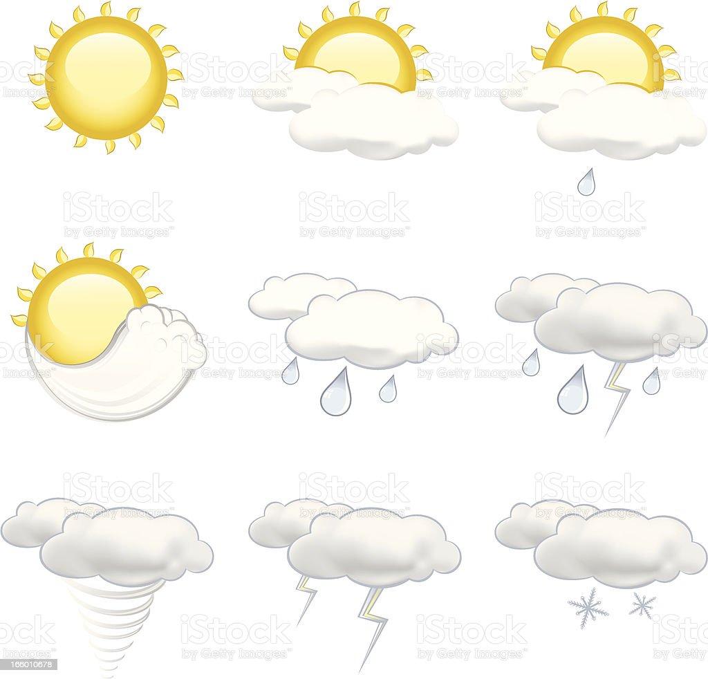 Meteorology Set royalty-free stock vector art