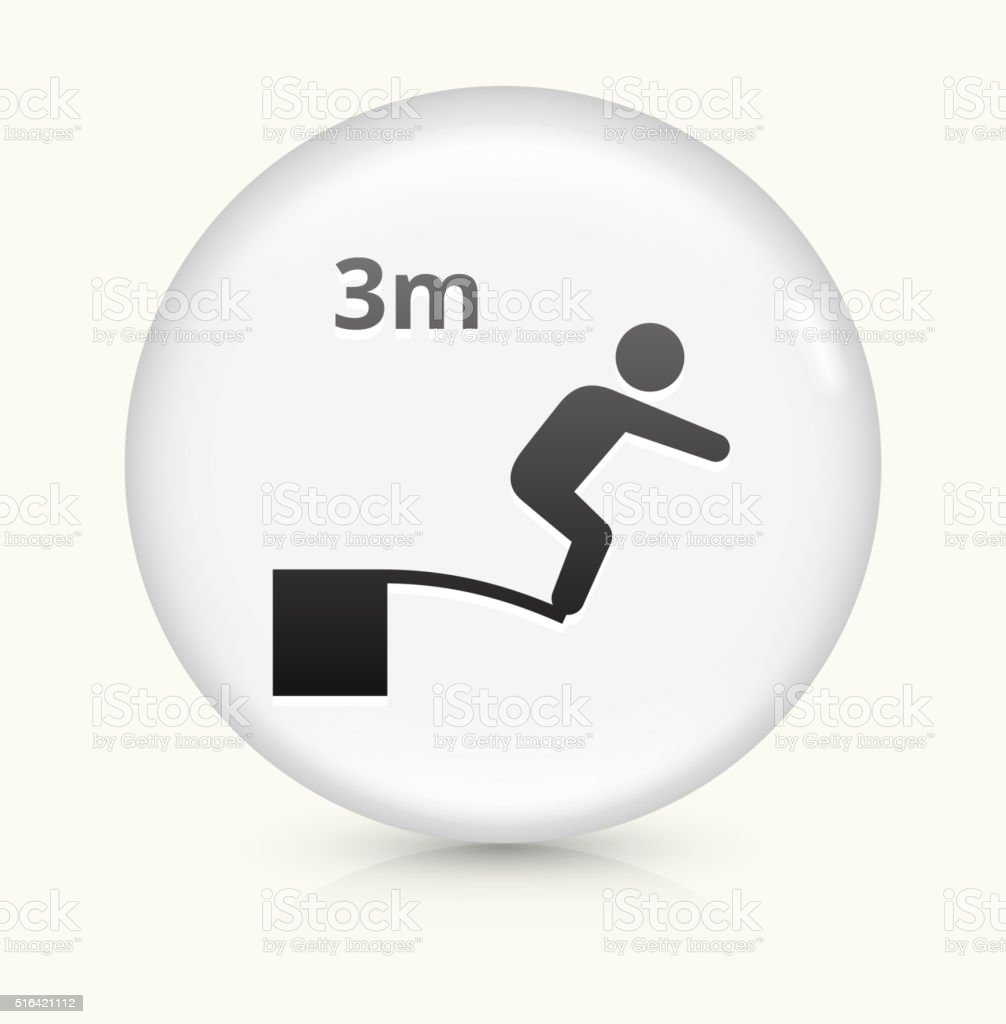3 Meter Dive icon on white round vector button vector art illustration