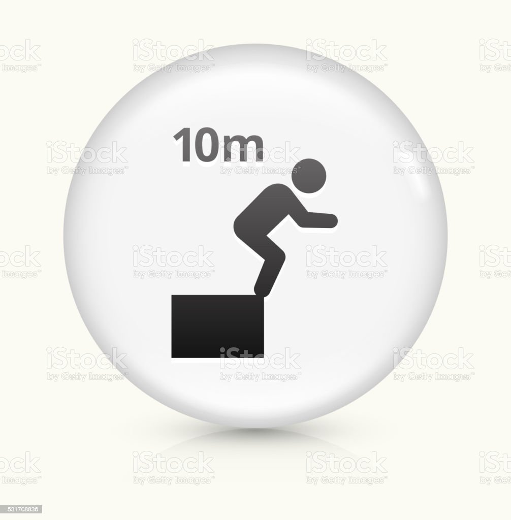10 Meter Dive icon on white round vector button vector art illustration