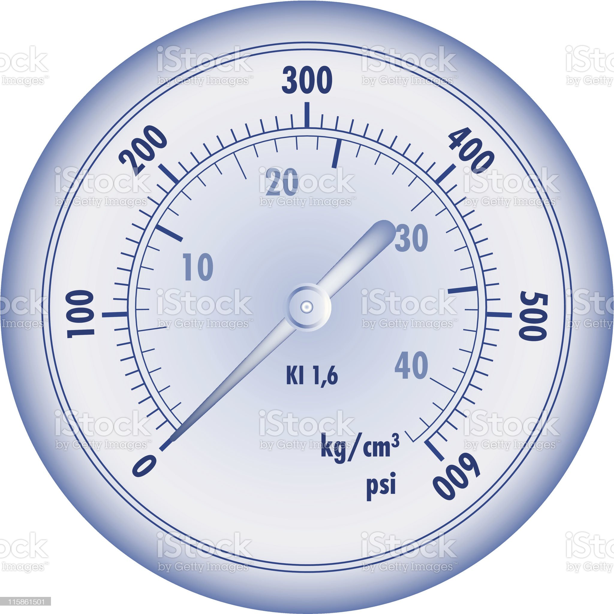 Meter for hydraulic measuring royalty-free stock vector art