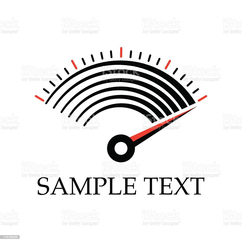Meter Icon vector art illustration