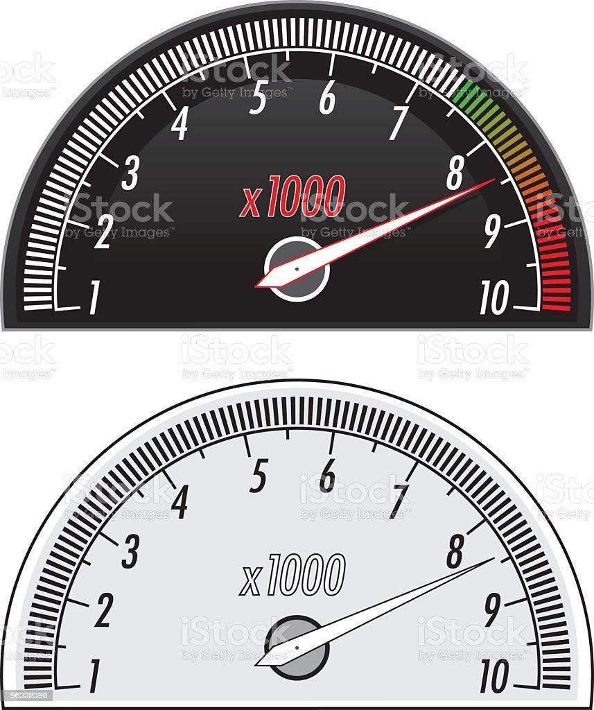 RPM Meter royalty-free stock vector art