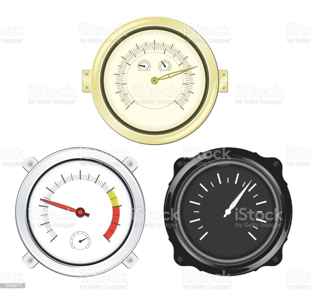 Meters and Indicators royalty-free stock photo