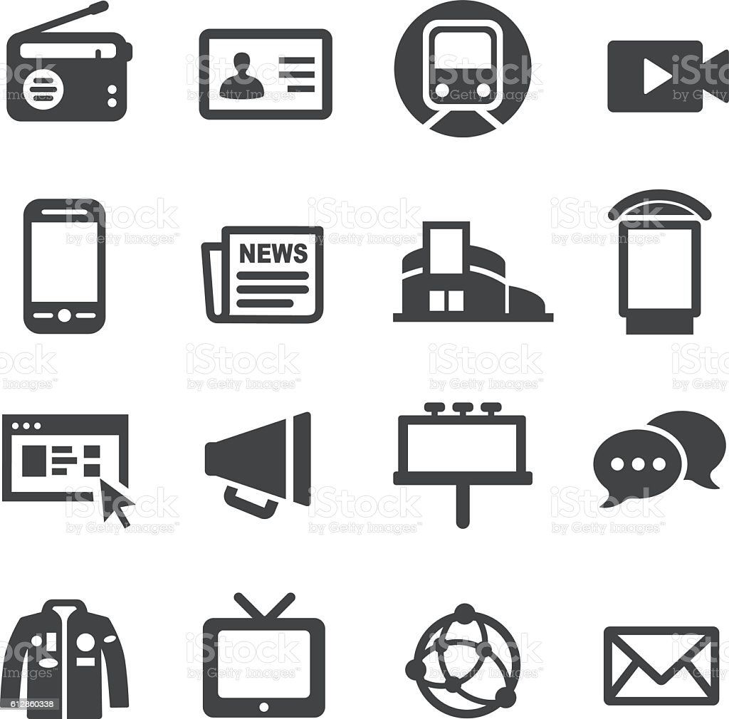 Methods of Advertising Icons - Acme Series vector art illustration