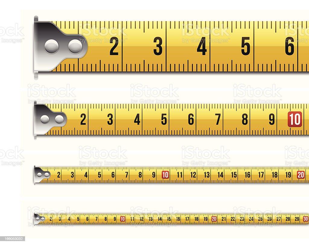 Metric Tape Measure Measurements vector art illustration