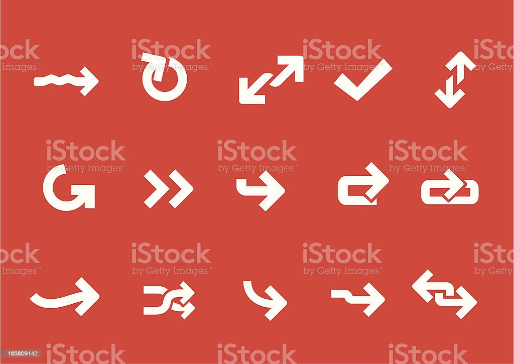 Metro Arrow Icons royalty-free stock vector art