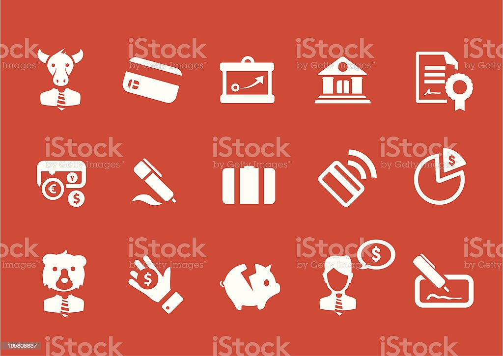 Metro Banking Icon Set royalty-free stock vector art