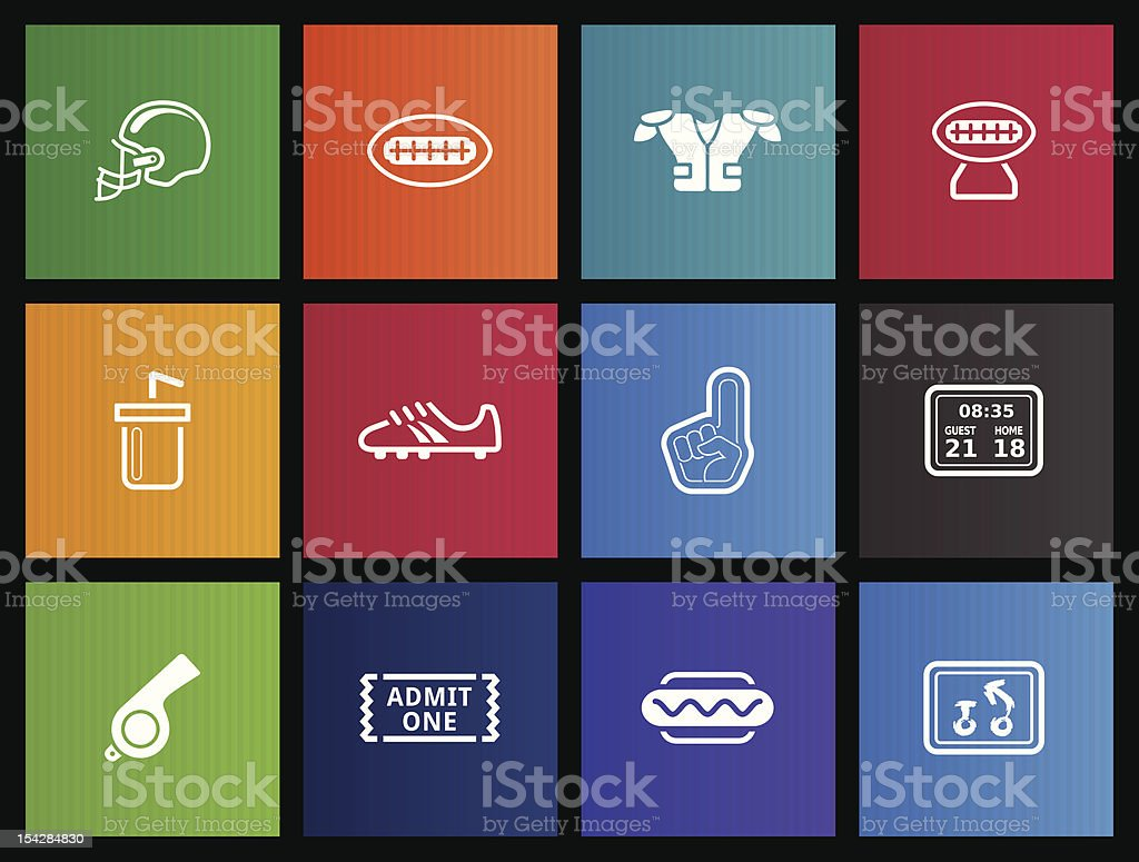 Metro Icons - American Football royalty-free stock vector art