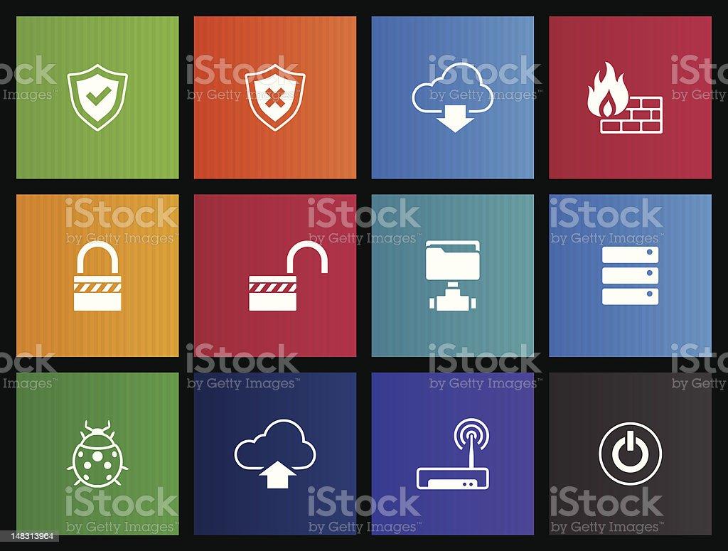 Metro Icons - Computer Network royalty-free stock vector art