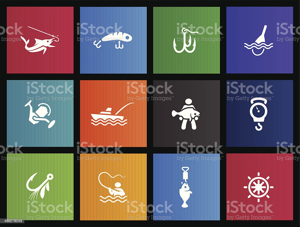 Metro Icons - Fishing royalty-free stock vector art