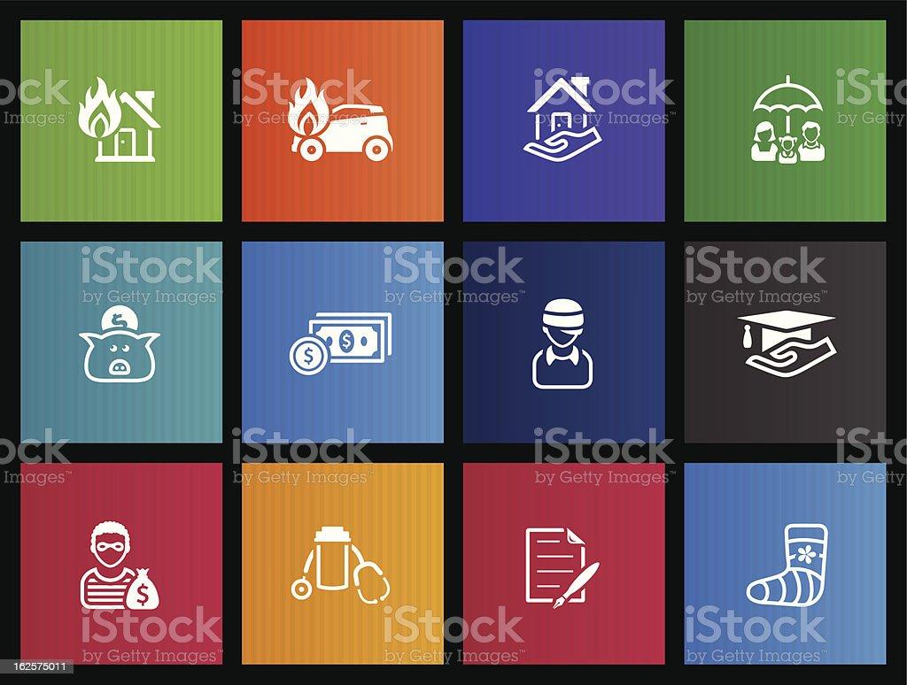 Metro Icons - Insurance royalty-free stock vector art
