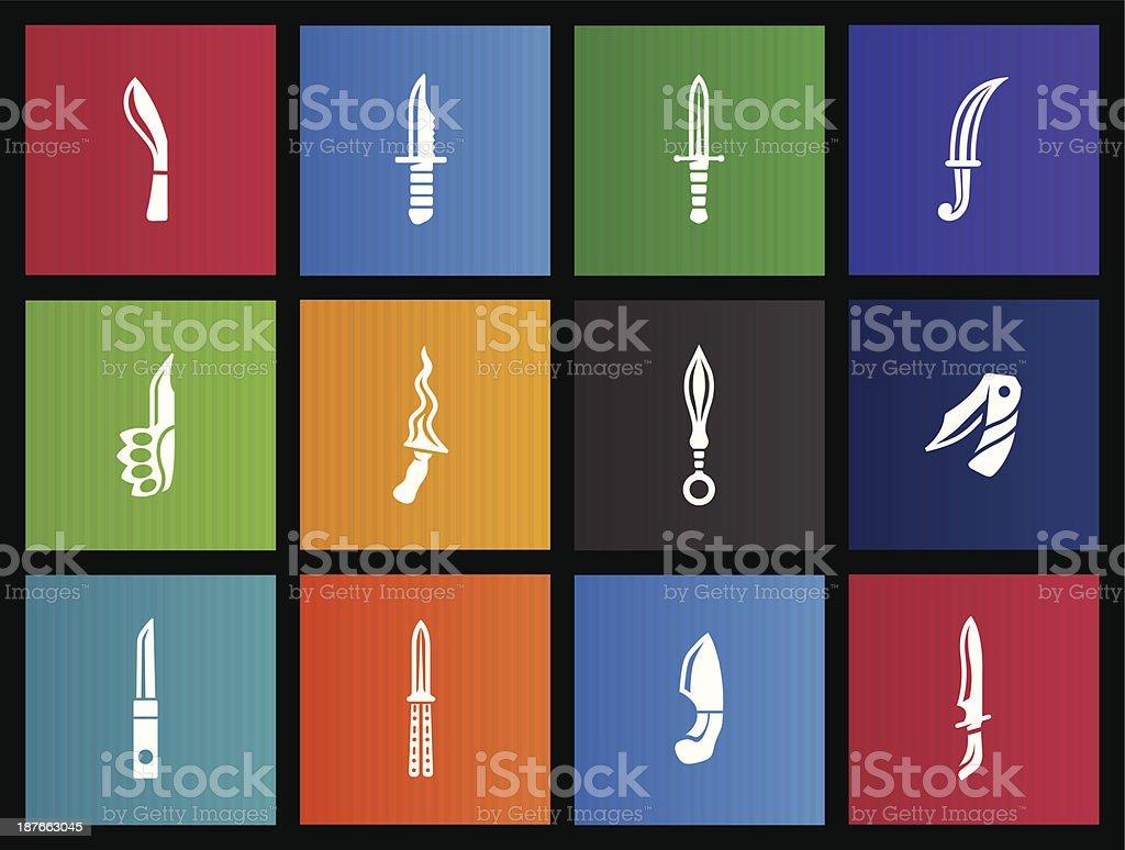 Metro Icons - Knives vector art illustration