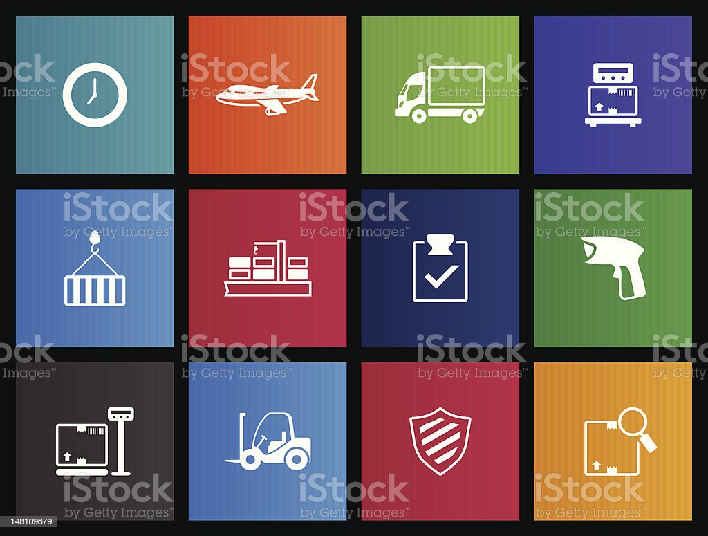 Metro Icons - More Logistic royalty-free stock vector art