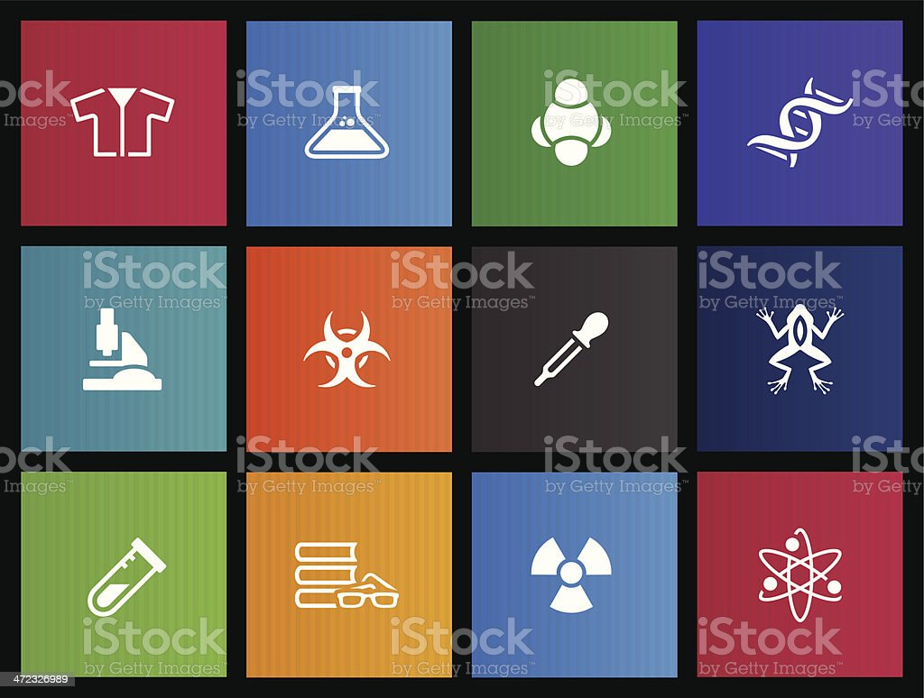Metro Icons - Science royalty-free stock vector art