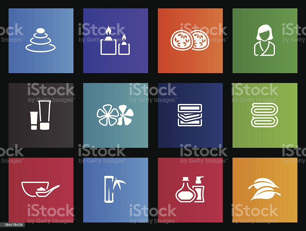 Metro Icons - Spa royalty-free stock vector art