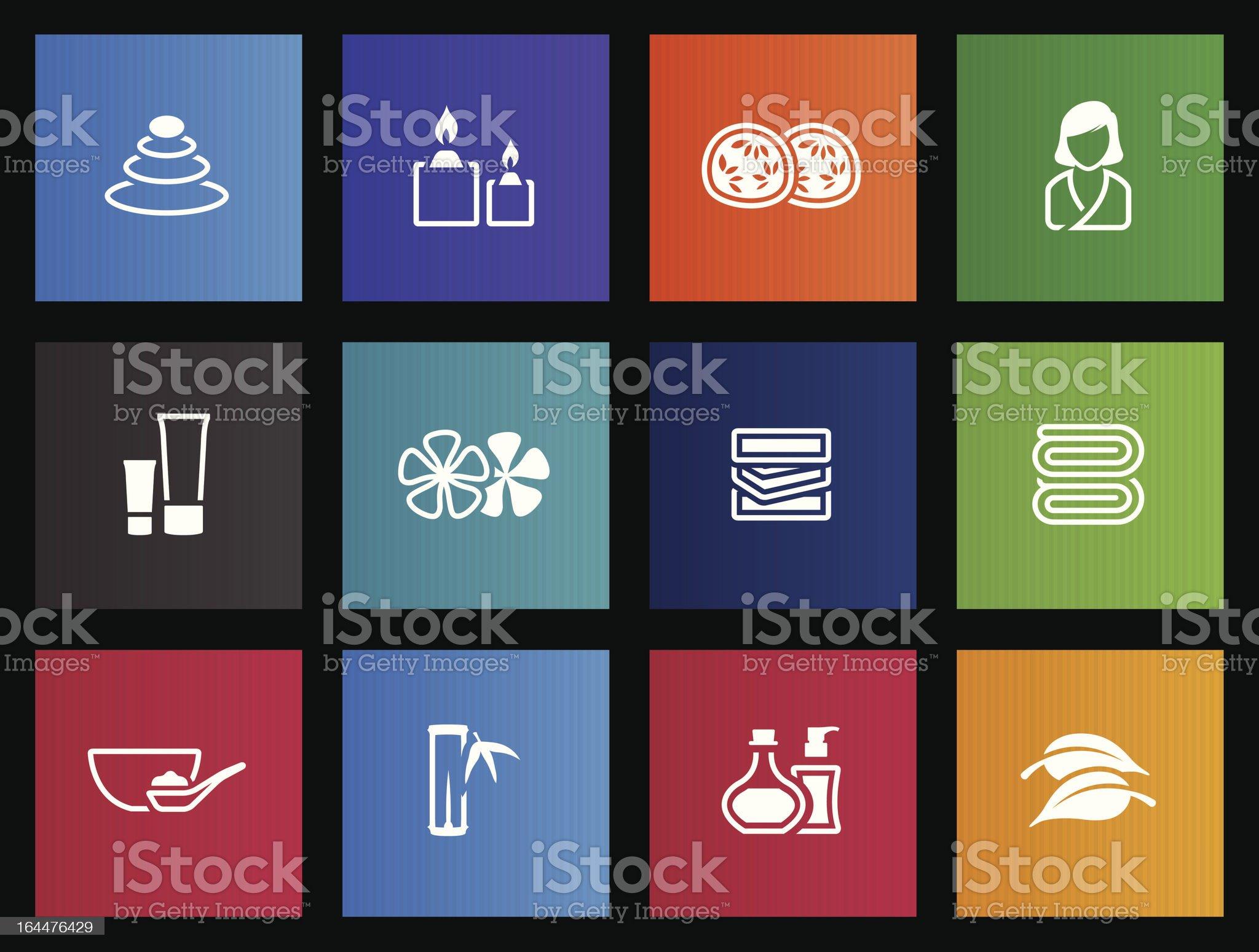Metro Icons - Spa royalty-free stock vector art